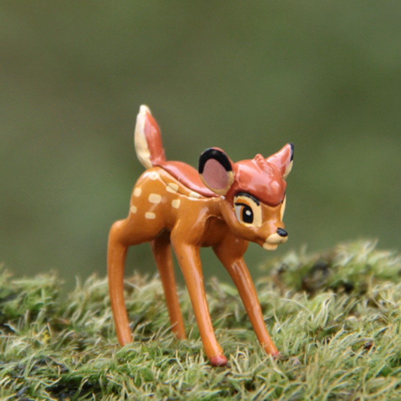 1 Pcs Kawaii Super Cute Little Deer Bambi Figures Table Decor Juguetes Landscape Doll Collection Toy landscape with figures givernyрепродукции моне 30 x 30см