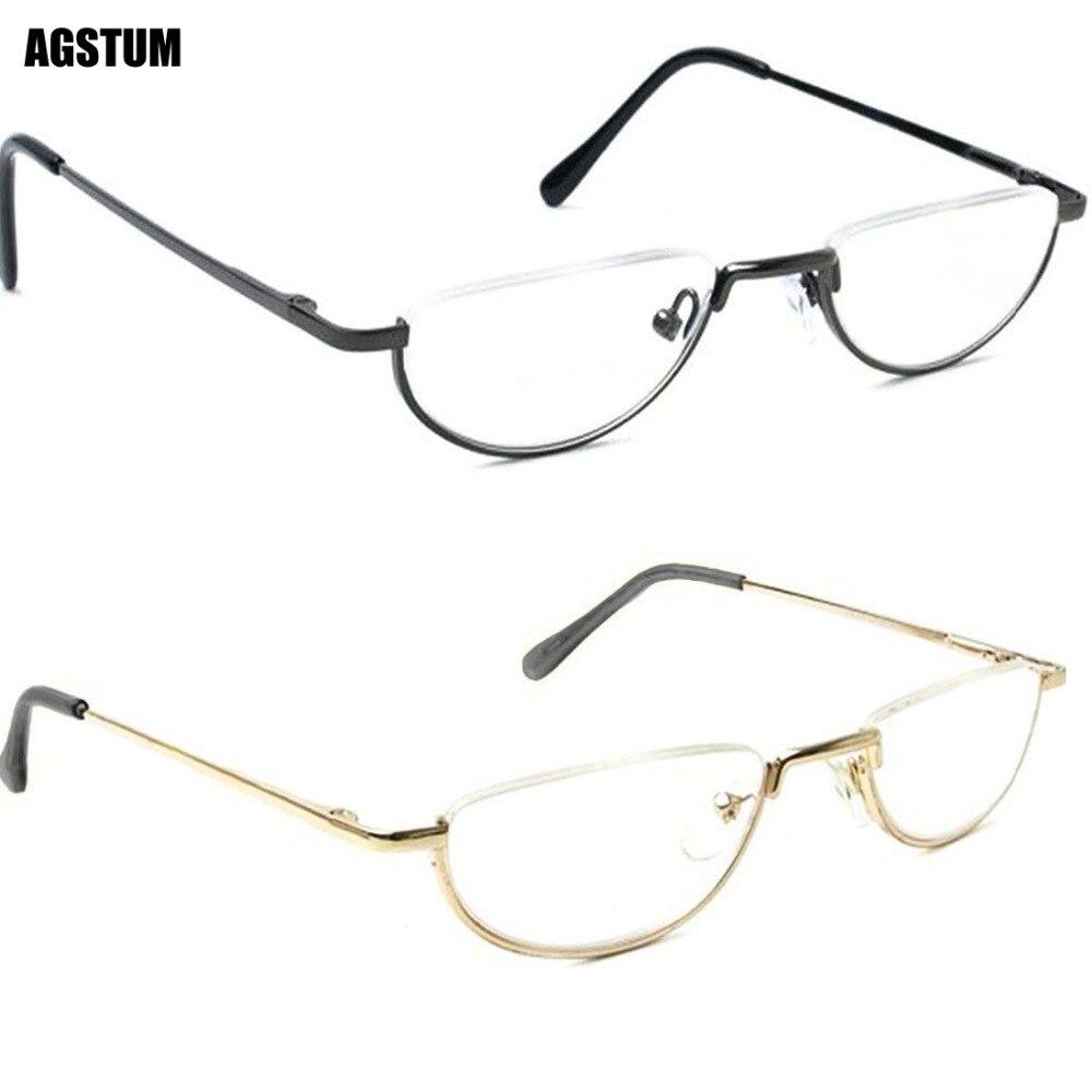 0c5b60993 Dobradiça de Mola Meia Lua do vintage Armações de óculos Óculos de Leitura  + 1 +