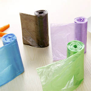 Size-Waste-Bag Plastic Thick 1-Rolls Environmental-Cleaning Convenient Single-Color 50--60cm
