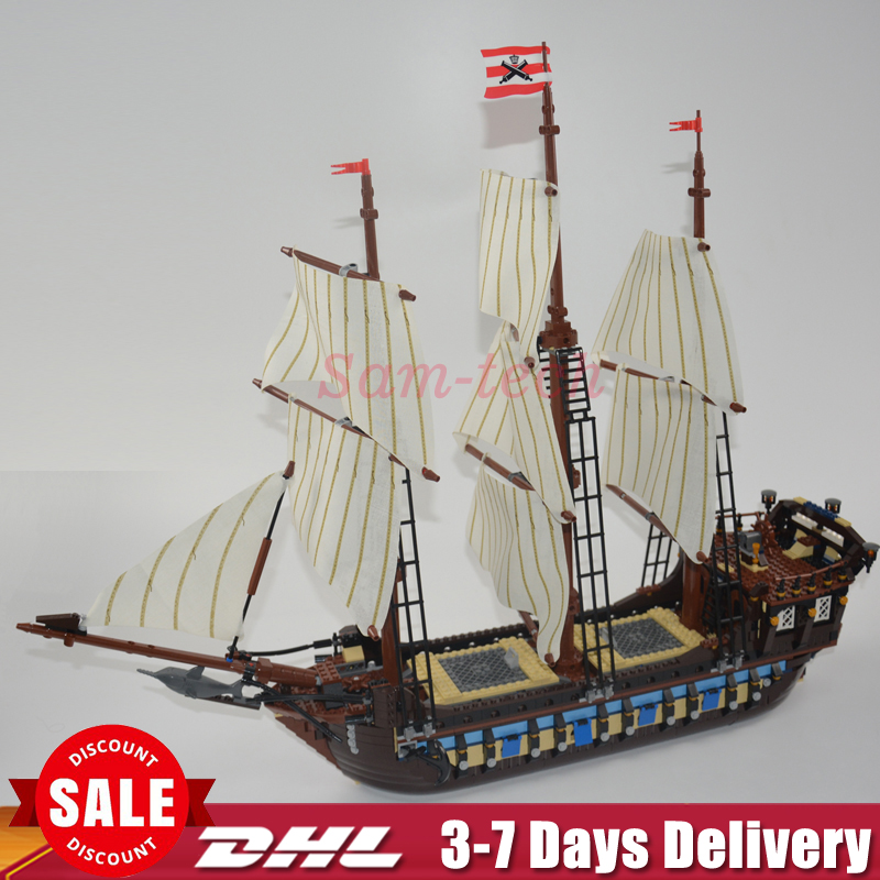 IN STOCK NEW LEPIN 22001 Pirate Ship Imperial Warships Model Building Kits Block Briks Toys Gift 1717pcs Clone 10210 lepin 22001 pirates series the imperial war ship model building kits blocks bricks toys gifts for kids 1717pcs compatible 10210