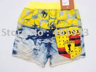 Mixed  Free Shipping Wholesale 10pc/lot children jeans,short pants,shorts baby clothing children's jeans fashion jeans/8870