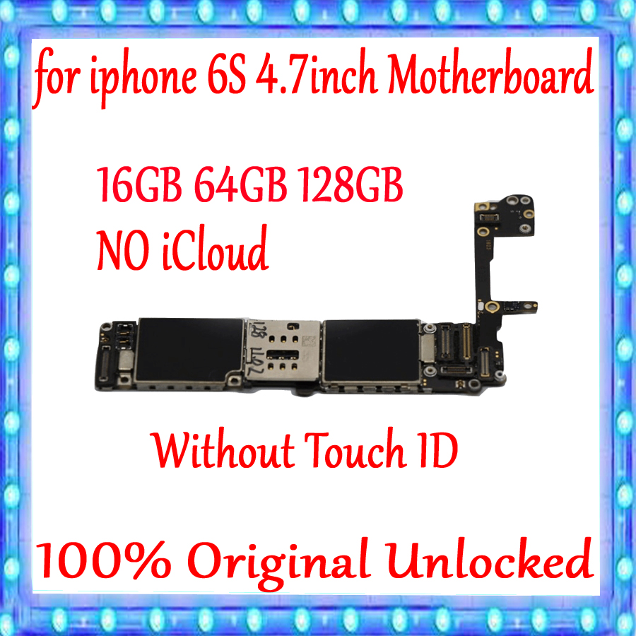 for <font><b>iphone</b></font> <font><b>6S</b></font> <font><b>Motherboard</b></font> Original unlocked Mainboard <font><b>16GB</b></font> 64GB 128GB for <font><b>iphone</b></font> <font><b>6S</b></font> 4.7inch Logic board Without Touch ID image
