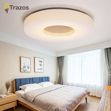 TRAZOS Simple Wooden Ceiling Lights Japan Style Bedroom Living Room Cafe Home Lighting Ceiling Lighting 7.5cm Wood Ceiling Lamp(China)
