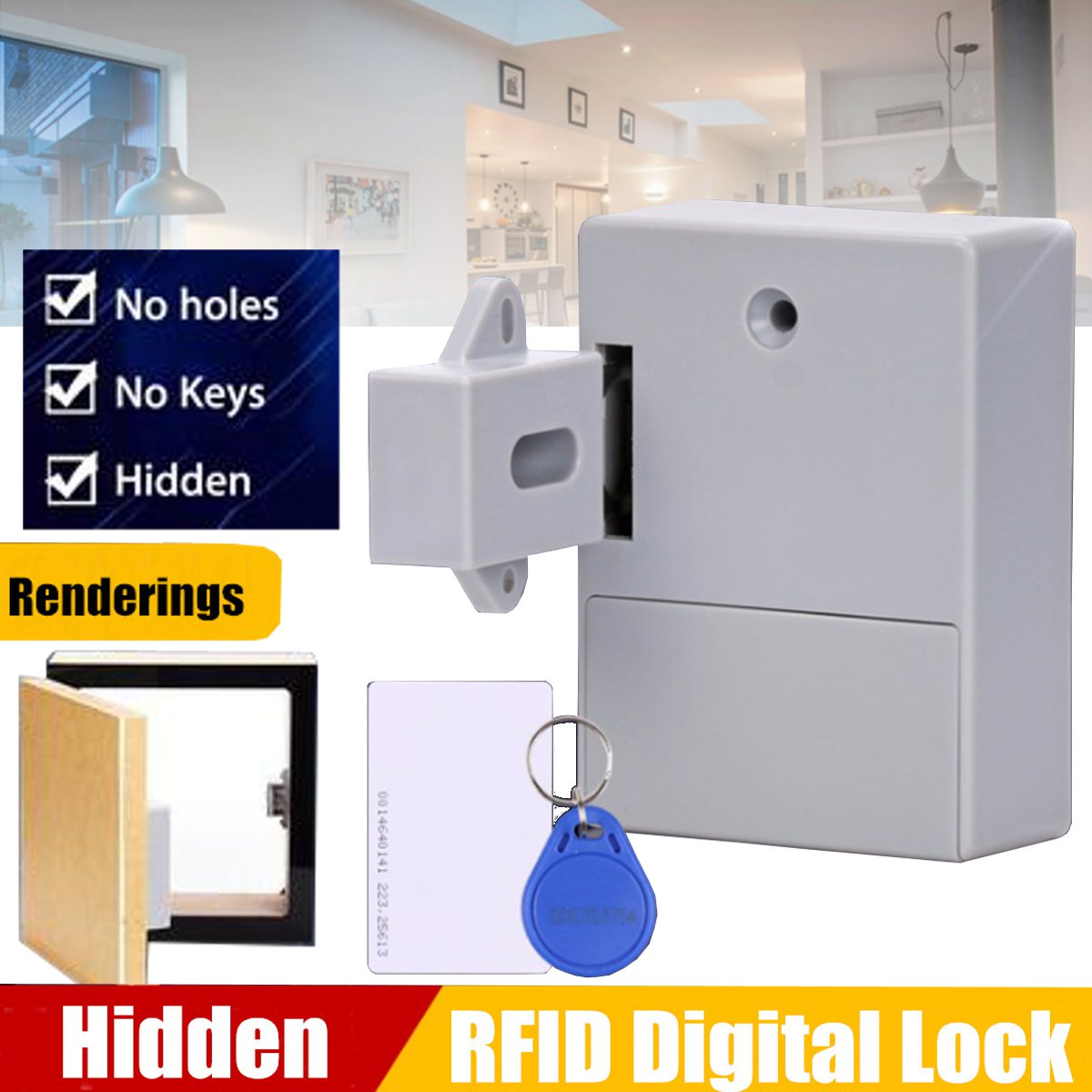 AA dry battery RFID Electronic Cabinet Locker Door Lock Wardrobe Lock Private 125KHZ EM RFID Drawer Lock цена 2017