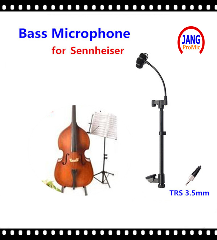 Professional Instrument Bass Microphone Condenser Mikrofon for Sennheiser Wireless System Transmitter 3.5mm Screw Jack Microfone  wholesale 5 pics beige mini lavalier condenser microphone conference microfone for shure wireless transmitter xlr mini mikrofon