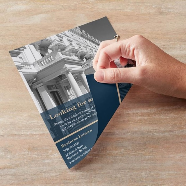 custom printing a4 a5 flyers leaflet paper brochure double sided