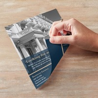 Custom printing A4,A5 Flyers Leaflet , paper brochure, Double Sided print , colorful print posters MOQ:500pcs