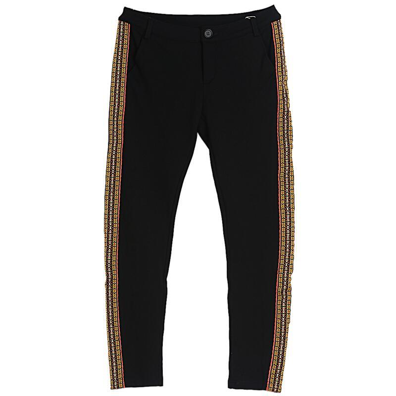 Marque Pantalon Arrivée 2018 Nouvelle Biutefou Skinny Hiver Femmes Crayon Long Rayé Casual Broderie C515q
