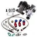 GT3076R GT30 GT3037 turbocompresor 500HP T3 Turbo externa válvula de descarga Skyline de drenaje de aceite volver Kit de línea de alimentación de aceite 82 de la vivienda