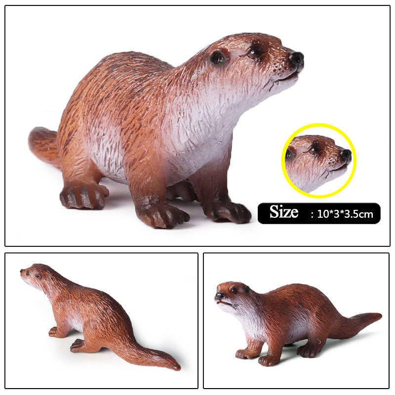 & Ação Brinquedos Figura Oceano Lontra Marinha Biológica Do Mundo Animal PVC Coleção Toy Modelo Boneca Figura Para Crianças de Presente Do Miúdo