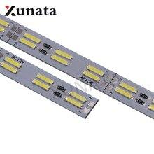 Корейский чип SMD 8520/5630 светодиодный светильник двухрядный 120 светодиодов/м жесткий брусок 25 см 50 см холодный белый светодиод