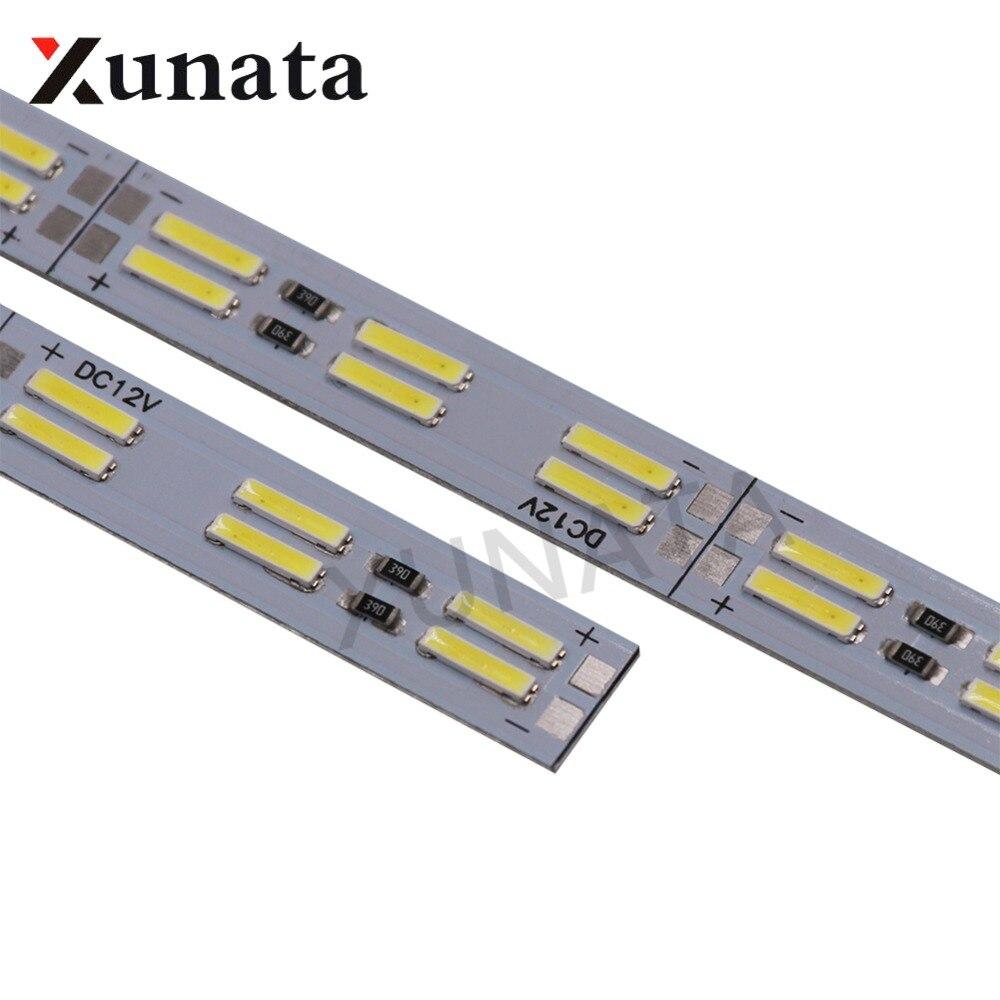 קוריאה שבב SMD 8520/7020/5630 Led רצועת אור כפול שורה 120 נוריות/m קשיח בר 25cm 50cm מגניב לבן Led קשיח הרצועה