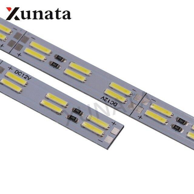 Corée puce SMD 8520/5630 Led bande lumière Double rangée 120 leds/m barre dure 25 cm 50 cm blanc froid Led bande dure