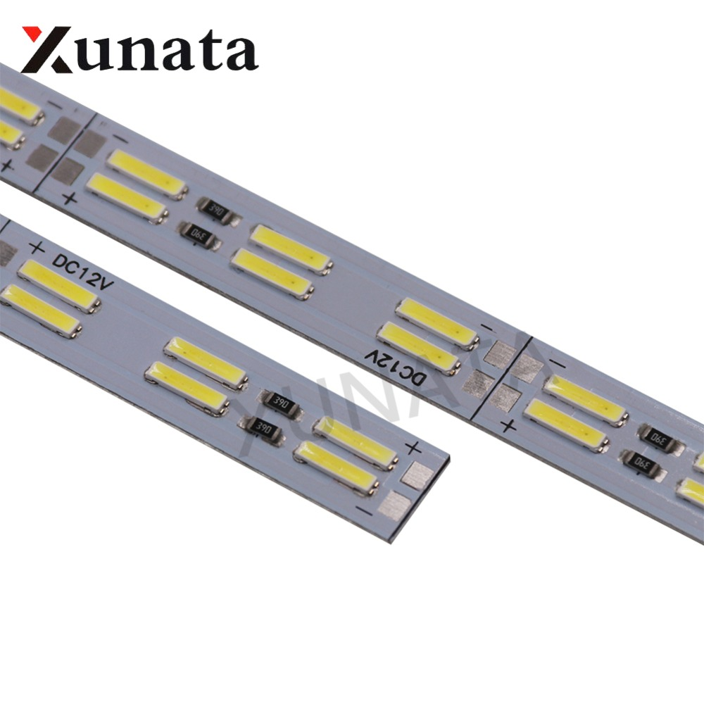 Korea Chip SMD 8520/7020/5630 Led Strip Light Double Row 120leds/m Hard Bar 25cm 50cm Cool White Led Hard Strip
