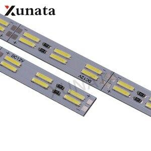 Image 1 - קוריאה שבב SMD 8520/7020/5630 Led רצועת אור כפול שורה 120 נוריות/m קשיח בר 25cm 50cm מגניב לבן Led קשיח הרצועה