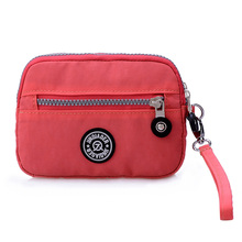 9 Colors! Fashion Waterproof Nylon Clutch Wallets Coin Purses Phone Bags with Wristlet Strap Hot Sale