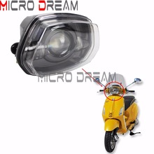 Motorcycle LED Headlight Assembly High or Low Beam Head Light for Vespa Sprint 150 GL Super GTR Scooter 30/50W Front Headlamp все цены