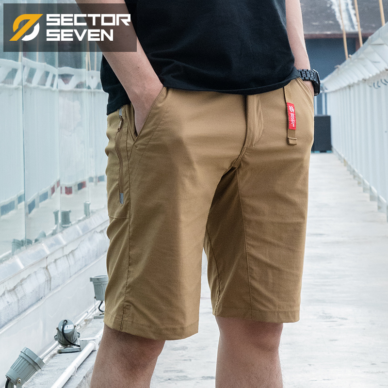Sector Seven Men New   Shorts   Summer Casual Slim Quick Dry Elastic   Shorts   Tactical Knee Length Solid Male   Short   Pants