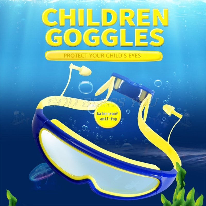 Anti Fog Children Swimming Goggles Boys Eyewear Waterproof Swim Glasses Earplugs