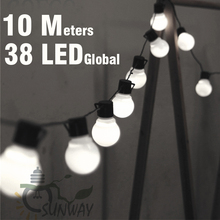 10 M LED String ไฟกับ 38 Pcs G50 สีขาว Globe สำหรับงานปาร์ตี้กลางแจ้งในร่มสวนตกแต่ง Patio และเชื่อมต่อปลั๊ก