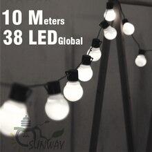 10 M LED String Lights met 38 Stuks G50 Wit Globe voor Indoor Outdoor Garden Party Patio Decoratie en Aansluitbaar plug inbegrepen