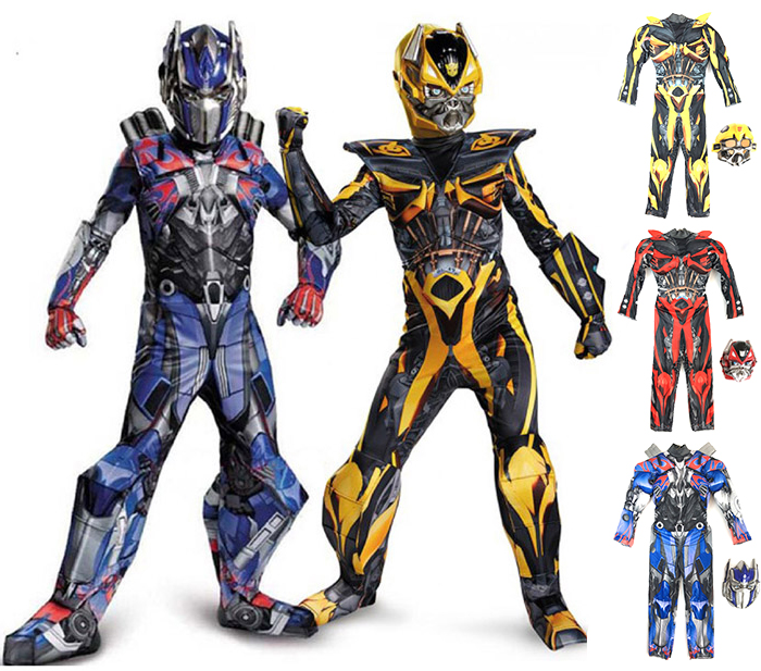 Halloween Costume Childrens Boys Cosplay Costume Bumblebee Optimus Prime Adult Iron Man Costume Mask Masquerade Party Clothing