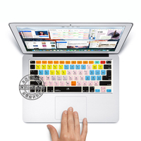 Pro Tools Shortcut Keys Soft Silicone Protection Sticker Keyboard Skin For 13 15 Inch Apple Macbook