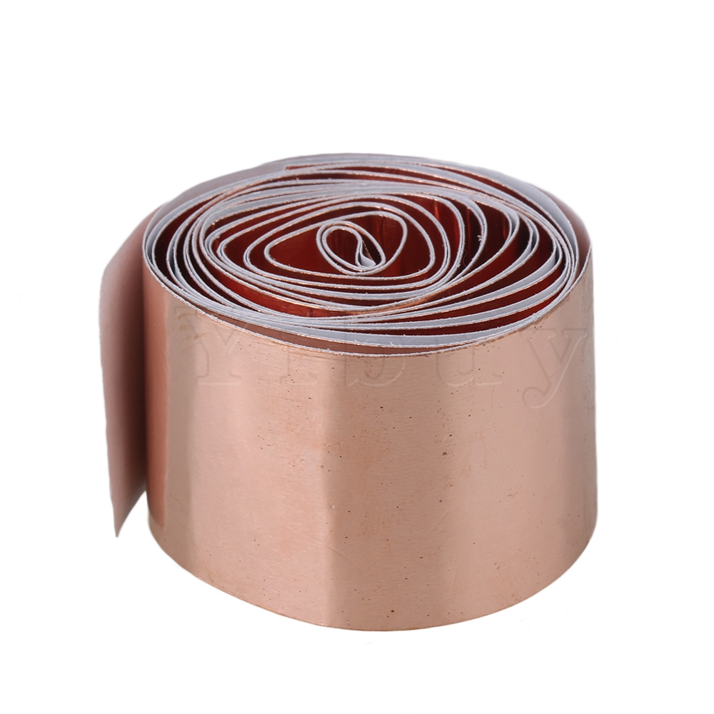 Yibuy 30mm X 2m Gitar Pickup Copper Foil Emi Shielding Tape