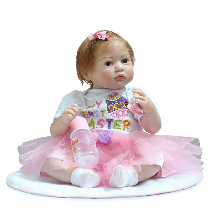 New Design Handmade Bonecas So Truly Real 22 Reborn Dolls 55cm Lifelike Silicone Reborn Girl Dolls of High Grade Toys for Girls