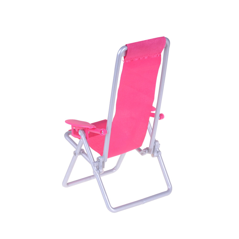 Pink Beach Chair Wide Office Chairs Miniature 1 12 Scale Hot Foldable Plastic Deck Mini Garden Lawn Furniture For Doll Bjdblythe Accessories