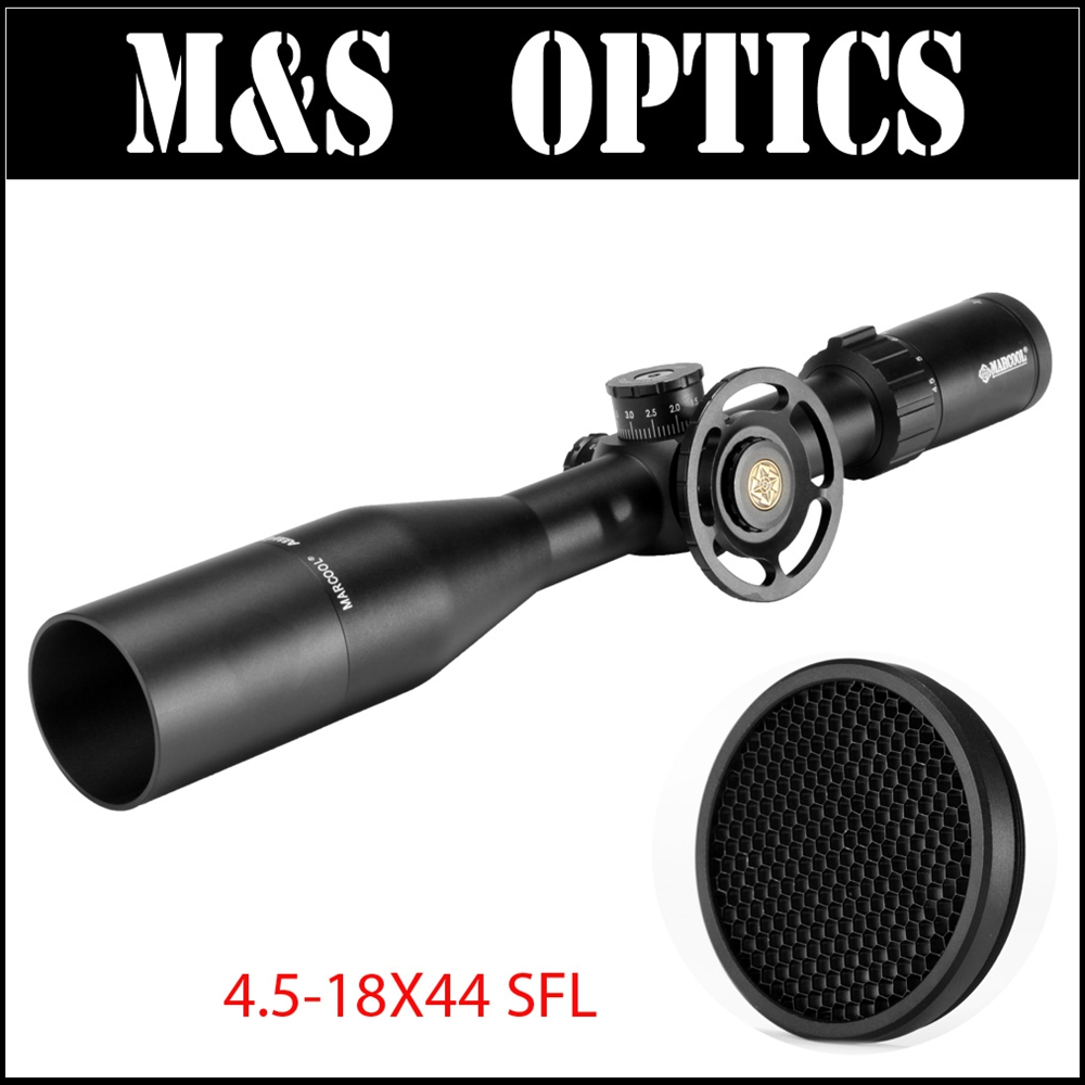 MARCOOL ALT 4.5-18X44 SFL Riflescope MAR-026 Reticle Optic Sight Free With 44MM Killflash Big side Wheel Sunshade and ring mount lacywear s 5 sfl