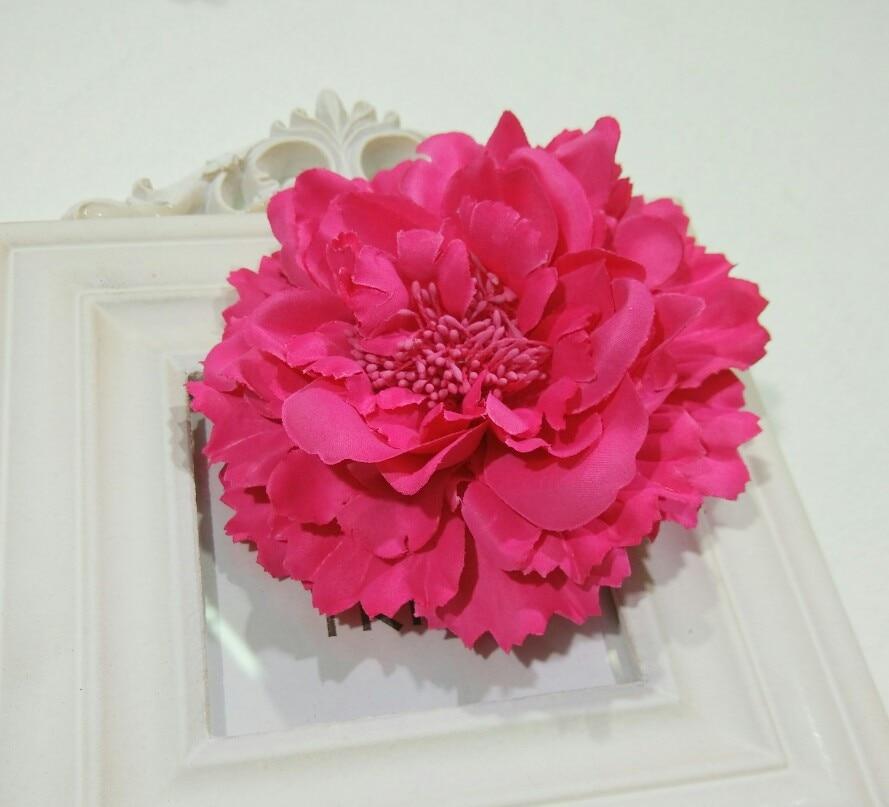 Fabric Flower Hair Clips,Flower Corsage Brooch Pins,Women Flower Headwear Wedding Party Gift