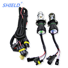 SHIELD Car Bulb HID Bixenon H4 Xenon 9003 hb2 Hi/Lo Beam Headlight Auto Lamp 3000k 4300k 5000k 6000K 10000k 12000k 8000k