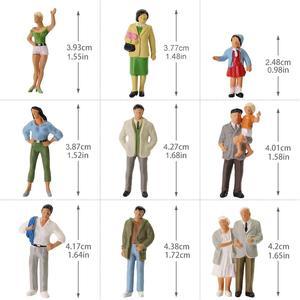 Image 5 - 20pcs All Standing 1:43 Scale Painted Figures O scale People Railway Figures Scenery Model Railway