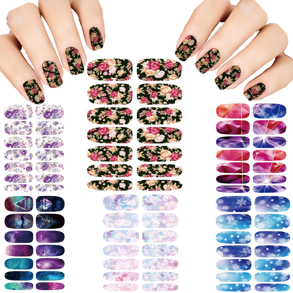 Hot 6pcs Nail Sticker Set Water Transfer Foil Nails Art Fashion Cartoon Tongue Manicure Decor Wraps Foil Stickers Decals hot sale 20 sheets lot 20 4cm nail art transfer foil floral serial sexy black lace pattern nail sticker foil material diy wy188