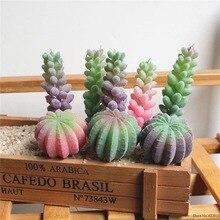 Artificial Succulent Plants Green Purple Pink Fake Home Garden Decoration Festive Party Supplies plante artificielle