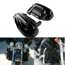 цена на Black Lower Vented Leg Fairings Cap Glove Box For Harley-Davidson Touring Models Road King Electra Glide Ultra FLHR FLHT