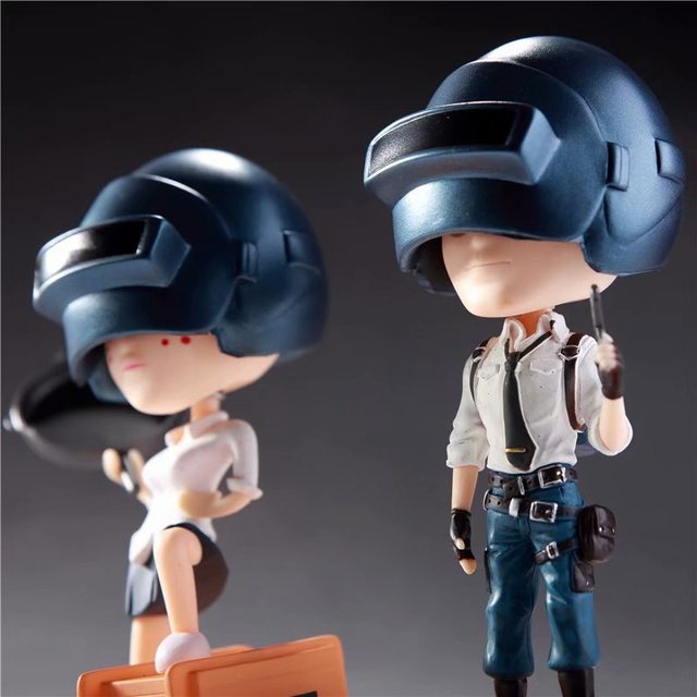 2pcs/set Game Playerunknowns Battlegrounds PUBG Character Q Version Figures Toys Birthday Gift no retail box (Chinese Version) 2