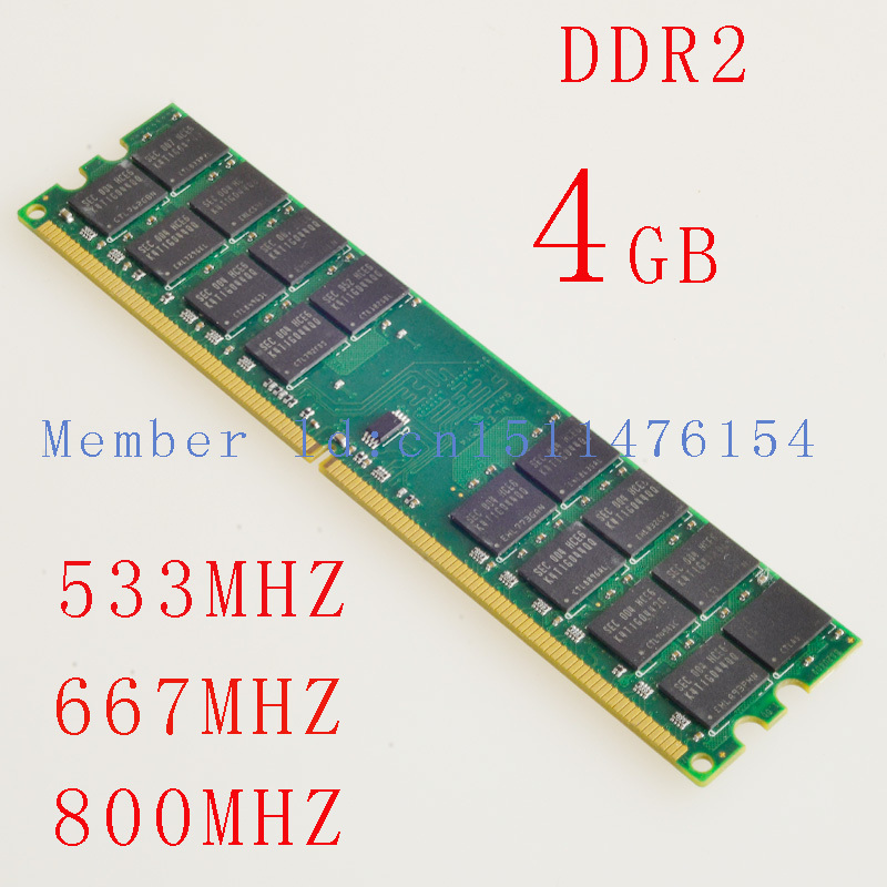 4GB RAM Desktop memory DDR2 533mhz 667mhz 800mhz PC2-5300 240pin 667MHz Desktop Memory DDR2 4gb 533 667 800 For AMD Motherboard original 4gb 2x2g 1rx4 pc2 5300 ecc ddr2 39m5866 46c0518