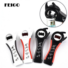 FEIGO Multifunction Stainless Steel Openers 5 in 1 Cans Manual Safety Non-Slip Opener Beer Bottle Openers Kitchen Gadgets F560 yooap cans opener household kitchen tools professional manual stainless steel openers with turn knob