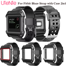 купить For Fitbit Blaze smart watch frontier/Classic replacement bracelet For Fitbit Blaze watch strap with case 2in1 accessories по цене 228.86 рублей