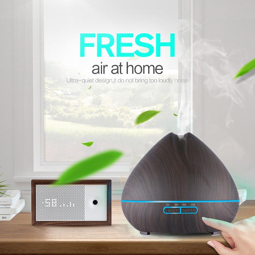 Diffuserlove 500ml Air Humidifier Aroma Essential Oil Diffuser Aromatherapy Hmidificador 7 Color Change LED Night Light