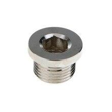 JX0006 bouchon hexagonal capteur d'oxygène O2 | Bouchon de bonde, capteurs Automobiles, bouchon de bonde, pièce de remplacement automobile M18x1.5 argent