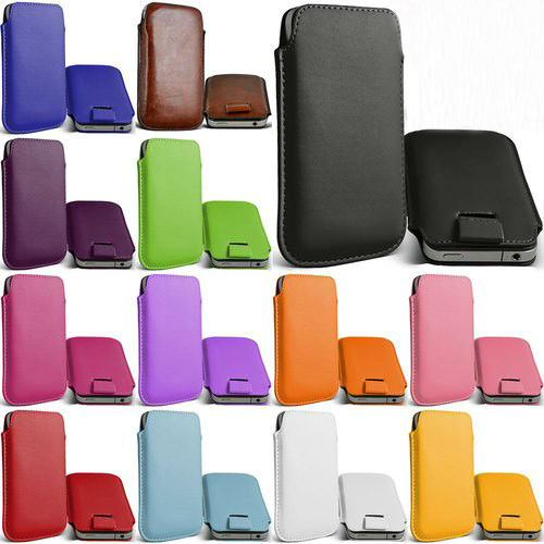 Bolsa de cuero de la pu case bolsa para samsung wave 525 accesorios para teléfon