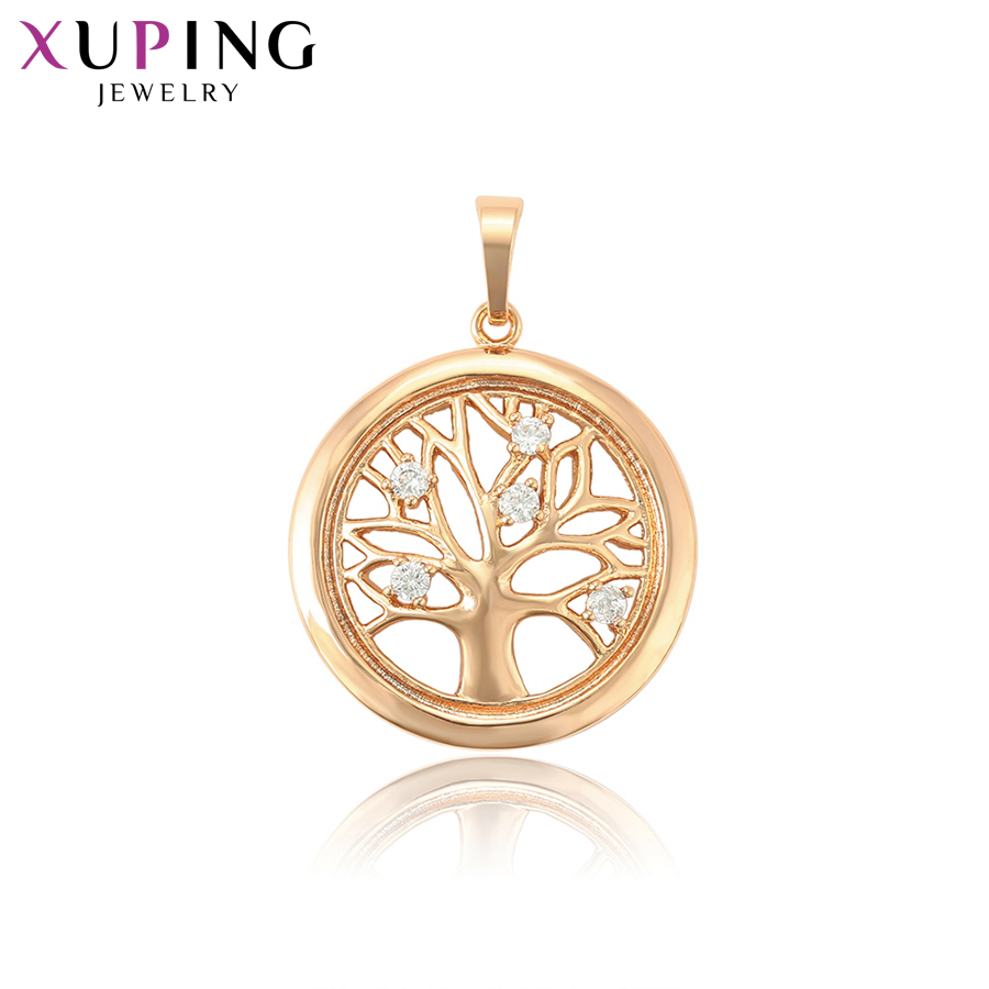 Xuping Jewelry Unique Leaf Shape and Round Design Gold