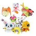 12 cm Aventura Digimon Patamon Pelúcia Gabumon Agumon Gomamon Biyomon Digital Monstro Bonecos de Pelúcia Para Crianças Presente