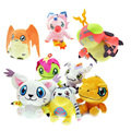 12cm Digimon Adventure Plush Toys Agumon Gabumon Gomamon Biyomon Patamon Digital Monster Stuffed Dolls For Kids Gift