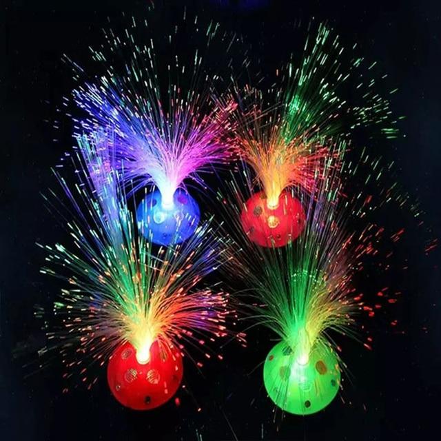Led Luminous Toys Fiber Optic Multicolor Star Christmas Decorations