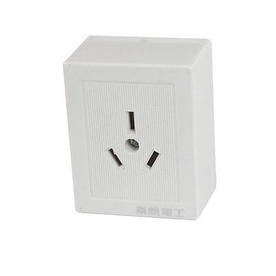 AC 250V 10A 3 Pins AU White PLastic Wall Plate Power Socket us au eu plug seat socket 2 gange on off switch wall mount plate ac 250v 10a