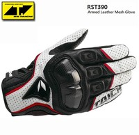 The Latest RS TAICHI RST390 Armed Leather Mesh Gloves Motorcycle Riding Gloves Motocross Knight Gloves